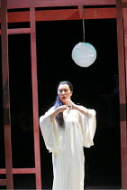 MADAM BUTTERFLY   by Puccini   director: David Freeman <br>,final scene, about to commit suicide: Ai-Lan Zhu (Cio-Cio San/Madam Butterfly),Royal Albert Hall, London SW7                       22/02/200...