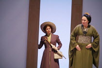 MADAMA BUTTERFLY   by Puccini   conductor: Nicola Luisotti   directors: Moshe Leiser & Patrice Caurier<br>,l-r: Liora Grodnikaite (Kate Pinkerton), Elena Cassian (Suzuki),The Royal Opera / Covent Gard...