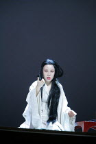 MADAMA BUTTERFLY   by Puccini   conductor: Nicola Luisotti   directors: Moshe Leiser & Patrice Caurier<br>,Butterfly prepares for suicide: Liping Zhang ( Cio-Cio-San) ,The Royal Opera / Covent Garden,...