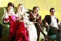 ORFEO   by Monteverdi   conductor: Christopher Moulds   director: Christopher Alden <br>,l-r: Ann Taylor (Prosperina / La Messagiera), Anna St�phany (Euridice / Speranza), Andrew Foster-Williams (Plut...