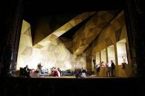 ORFEO   by Monteverdi   conductor: Christopher Moulds   director: Christopher Alden    ,set design: Paul Steinberg   costume design: Doey L�thi   lighting design: Adam Silverman <br>,downstage centre:...