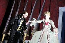 ORLANDO   by Handel   conductor: Charles Mackerras   director: Francisco Negrin <br>,l-r: Bejun Mehta (Orlando), Rosemary Joshua (Angelica),The Royal Opera / Covent Garden, London WC2         26/02/20...
