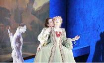 ORLANDO   by Handel   conductor: Charles Mackerras   director: Francisco Negrin <br>,l-r: David Lucas (Eros), Anna Bonitatibus (Medoro), Rosemary Joshua (Angelica),The Royal Opera / Covent Garden, Lon...