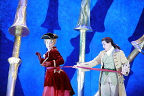 ORLANDO   by Handel   conductor: Charles Mackerras   director: Francisco Negrin <br>,l-r: Rosemary Joshua (Angelica), Anna Bonitatibus (Medoro),The Royal Opera / Covent Garden, London WC2         26/0...