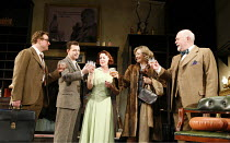 WHISKY GALORE!   adapted by Giles Croft from the novel by Compton McKenzie   director: Giles Croft <br>,l-r: Matthew Callum (Danny), Richard Shelton (Sandy), Sally Armstrong (Christine), Karen Drury (...