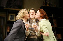 WHISKY GALORE!   adapted by Giles Croft from the novel by Compton McKenzie   director: Giles Croft <br>,l-r: Karen Drury (Peggy Macroon), Tim Smith (George Campbell), Sally Armstrong (Catriona Macroon...