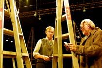 'AFORE NIGHT COME' (Rudkin)   l-r: Patrick Drury (Spens), Ewan Hooper (Roche) Young Vic Theatre, London SE1              25/09/2001