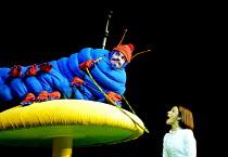 'ALICE IN WONDERLAND' (Carroll/Mitchell)~John Conroy (Caterpillar), Katherine Heath (Alice)~RSC/Barbican Theatre, London EC1      13/112001