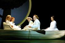 'ALICE IN WONDERLAND' (Carroll/Mitchell)~front centre: Daniel Flynn (Dodgson), right: Katherine Heath (Alice) with Lorina, Edith & Duckworth~RSC/Barbican Theatre, London EC1      13/112001