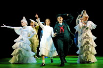 'ALICE IN WONDERLAND' (Carroll/Mitchell)~centre: Katherine Heath (Alice), Paul Leonard (Mock Turtle) ~RSC/Barbican Theatre, London EC1      13/112001