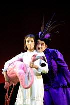 'ALICE IN WONDERLAND' (Carroll/Mitchell)~Katherine Heath (Alice), Robert Horwell (Duchess)~RSC/Barbican Theatre, London EC1      13/112001