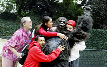 'GRANNY AND THE GORILLA'~l-r: Janet Jefferies (Granny), Amit Sharma (Robbie), Anita Koh (Nina), Oliver Parham (Shinda), Ross Sutherland (Mick)~Open Air Theatre / Regent's Park, London NW1            0...