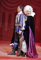 'SNOW WHITE & THE SEVEN DWARFS',Andrew Kennedy (Prince Paul), Lily Savage (The Wicked Queen),Victoria Palace Theatre, London SW1                                  12/2004,
