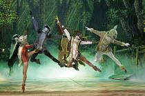 'SNOW WHITE & THE SEVEN DWARFS',forest creatures,Victoria Palace Theatre, London SW1                                  12/2004,