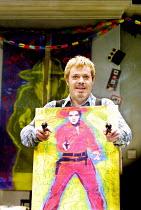 A DAY IN THE DEATH OF JOE EGG  by Peter Nichols  design: Es Devlin  lighting: Adam Silverman  director: Laurence Boswell  ~Eddie Izzard (Bri)~Comedy Theatre, London SW1  11/12/2001~(c) Donald Cooper/P...