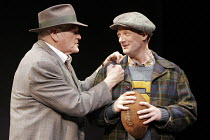 'DEATH OF A SALESMAN' (Arthur Miller - director: Robert Falls),l-r: Brian Dennehy (Willy Loman), Douglas Hensall (Biff Loman),Lyric Theatre, London W1                      16/05/2005...