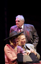 'DEATH OF A SALESMAN' (Arthur Miller - director: Robert Falls),(rear) Brian Dennehy (Willy Loman) with Samantha Coughlan (Miss Forsythe), Mark Bazeley (Happy Loman),Lyric Theatre, London W1...