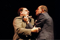 'DEATH OF A SALESMAN' (Arthur Miller - director: David Thacker)~l-r: Alun Armstrong (Willy Loman), Mark Strong (Biff)~Lyttelton Theatre / National Theatre, London            31/10/1996