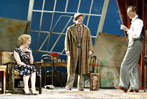 'DESIGN FOR LIVING' (Noel Coward)   (director: Peter Hall)~l-r: Janie Dee (Gilda), Hugo Speer (Otto), Aden Gillett (Leo)~The Peter Hall Company / Theatre Royal, Bath   England                  09/07/2...