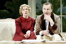 'DESIGN FOR LIVING' (Noel Coward)   (director: Peter Hall)~Janie Dee (Gilda), Aden Gillett (Leo)~The Peter Hall Company / Theatre Royal, Bath   England                  09/07/2003