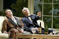 'DESIGN FOR LIVING' (Noel Coward)   (director: Peter Hall)~l-r: Hugo Speer (Otto), Aden Gillett (Leo)~The Peter Hall Company / Theatre Royal, Bath   England                  09/07/2003