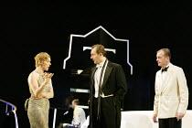 'DESIGN FOR LIVING' (Noel Coward)   (director: Peter Hall)~l-r: Janie Dee (Gilda), Aden Gillett (Leo), Hugo Speer (Otto)~The Peter Hall Company / Theatre Royal, Bath   England                  09/07/2...