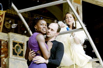 'DIDO, QUEEN OF CARTHAGE' (Marlowe - 'Master of Play': Tim Carroll)   2003 Season of Regime Change~Rakie Ayola (Dido), Will Keen (Aeneas) with Clare Swinburne (Venus)~Shakespeare's Globe, London SE1...