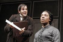 'A DOLL'S HOUSE' (Ibsen - version by Christopher Hampton -  director: Matthew Lloyd),Michael Matus (Krogstad), Tanya Moodie (Nora),West Yorkshire Playhouse / Leeds, England                   23/02/200...
