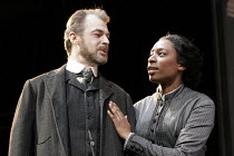 'A DOLL'S HOUSE' (Ibsen - version by Christopher Hampton -  director: Matthew Lloyd),Paul Goodwin (Dr Rank), Tanya Moodie (Nora),West Yorkshire Playhouse / Leeds, England                   23/02/2005,