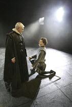 'DON CARLOS' (Schiller - translated by Mike Poulton   director: Michael Grandage)~l-r: Derek Jacobi (King Philip II of Spain), Richard Coyle (Don Carlos)~Crucible Theatre / Sheffield, England    01/10...