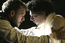 'DON CARLOS' (Schiller - translated by Mike Poulton   director: Michael Grandage)~l-r: Elliot Cowan (Marquis of Posa), Richard Coyle (Don Carlos)~Crucible Theatre / Sheffield, England    01/10/2004