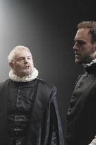 'DON CARLOS' (Schiller - translated by Mike Poulton   director: Michael Grandage)~l-r: Derek Jacobi (King Philip II of Spain), Elliot Cowan (Marquis of Posa)~Crucible Theatre / Sheffield, England    0...