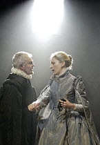'DON CARLOS' (Schiller - translated by Mike Poulton   director: Michael Grandage),Derek Jacobi (King Philip II of Spain), Claire Price (Queen Elizabeth) ,Sheffield Crucible Theatre production     Giel...