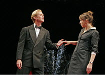 'DON JUAN' (Moliere - translated & directed by Neil Bartlett),James Wilby (Don Juan), Kirsty Bushell (Charlotte),Lyric Hammersmith, London W6           04/10/2004,