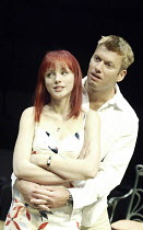 'DROWNING ON DRY LAND' (written & directed by Alan Ayckbourn)~Melanie Gutteridge (Linzi), Stephen Beckett (Charlie)~Stephen Joseph Theatre / Scarborough, England           04/05/2004