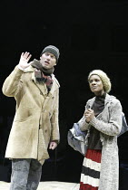 'DROWNING ON DRY LAND' (written & directed by Alan Ayckbourn)~Stephen Beckett (Charlie), Billie-Claire Wright (Gale)~Stephen Joseph Theatre / Scarborough, England           04/05/2004