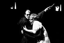 DOCTOR FAUSTUS by Christopher Marlowe  design: Ashley Martin-Davis  director: Barry Kyle <br>~l-r: David Bradley (Mephistophiles), Gerard Murphy (Dr Faustus) ~Royal Shakespeare Company (RSC), Swan The...