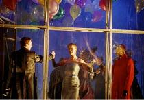 THE DUCHESS OF MALFI  by John Webster  set design: Peter J Davison  costumes: Sue Willmington  lighting: Mark McCullough  director: Gale Edwards   opening scene, l-r: Colin Tierney (Ferdinand, Duke o...