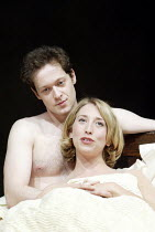 'THE DWARFS' (Harold Pinter/adapted by Kerry Lee Crabbe/directed by Christopher Morahan)~Jamie Lee (Pete), Daisy Haggard (Virginia)~Tricycle Theatre, London NW6                23/04/2003