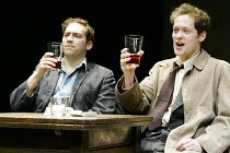 'THE DWARFS' (Harold Pinter/adapted by Kerry Lee Crabbe/directed by Christopher Morahan)~l-r: Ben Caplan (Mark), Jamie Lee (Pete)~Tricycle Theatre, London NW6                23/04/2003