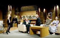 'DAMSELS IN DISTRESS' (Ayckbourn)~'RolePlay': l-r  Alison Pargeter (Paige Petite), Tim Faraday (Micky Rale), Jacqueline King (Arabella Lazenby), Robert Austin (Derek Jobson), Beth Tuckey (Dee Jobson),...