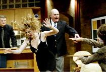 'DAMSELS IN DISTRESS' (Ayckbourn)~'RolePlay': centre  Alison Pargeter (Paige Petite), Robert Austin (Derek Jobson)~Duchess Theatre, London WC2                07/09/2002
