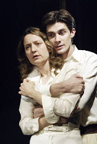 'ELECTRA' (Jean Giraudoux, after Sophocles & Euripedes - director: Erica Whyman)~Lucy Briers (Electra), Ben Silverstone (Orestes)~Gate Theatre, London W11                     22/10/2003