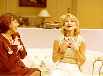 'FALLEN ANGELS' (Coward),l-r: Frances de la Tour (Jane Banbury), Felicity Kendal (Julia Sterroll),Apollo Theatre, London W1  25/10/2000,
