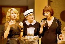 'FALLEN ANGELS' (Coward),l-r: Felicity Kendal (Julia Sterroll), Tilly Tremayne (Saunders), Frances de la Tour (Jane Banbury),Apollo Theatre, London W1  25/10/2000,