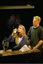 FAR AWAY by Caryl Churchill  design: Ian MacNeil  director: Stephen Daldry ~ ~Katherine Tozer (Older Joan), Kevin McKidd (Todd)~Theatre Upstairs, Royal Court Theatre, London SW1  30/11/2000~(c) Donald...