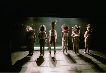 FAR AWAY by Caryl Churchill  design: Ian MacNeil  director: Stephen Daldry ~ ~the parade~Theatre Upstairs, Royal Court Theatre, London SW1  30/11/2000~(c) Donald Cooper/Photostage   photos@photostage....