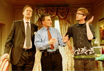 'FEELGOOD' (Beaton)~l-r: Nigel Planer (George), Henry Goodman (Eddie), Pearce Quigley (Simon)~Hampstead Theatre, NW3  01/2001   Garrick Theatre, WC2  26/04/2001