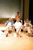 'FINDING THE SUN' (Albee) l-r: Edward de Souza (Henden), Sheila Gish (Edmee),  (rear) Edward Hughes (Fergus), Sheila Burrell (Gertrude) Royal National Theatre/Cottesloe Theatre, London SE1  08/05/2...