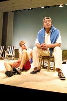 'FINDING THE SUN' (Albee) l-r: Edward Hughes (Fergus), Edward de Souza (Henden) Royal National Theatre/Cottesloe Theatre, London SE1  08/05/2001